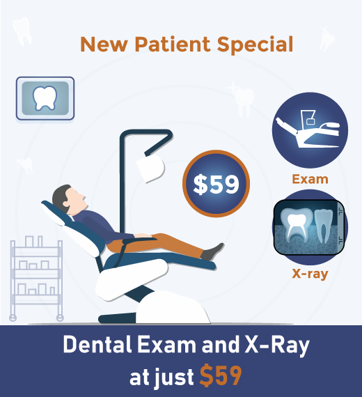 Graphics with new patient special offer text